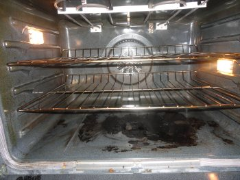 Before Deep Cleaning of an oven in Marietta, GA